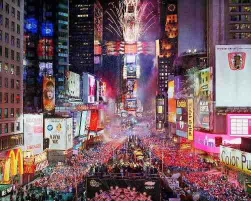New York City Years Eve 2018 Times Square Nye Fireworks