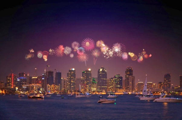 San Diego New Years Eve 2018 Fireworks