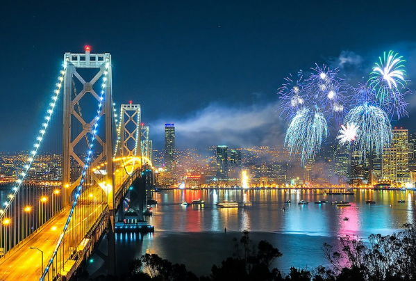 San Francisco New Years Eve 2018 Fireworks