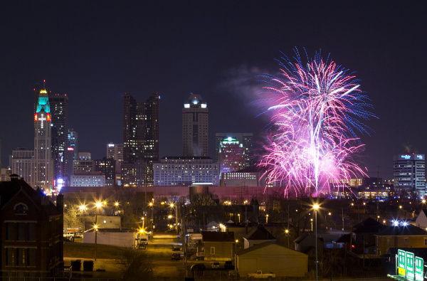 columbus New Years Eve 2018 fireworks