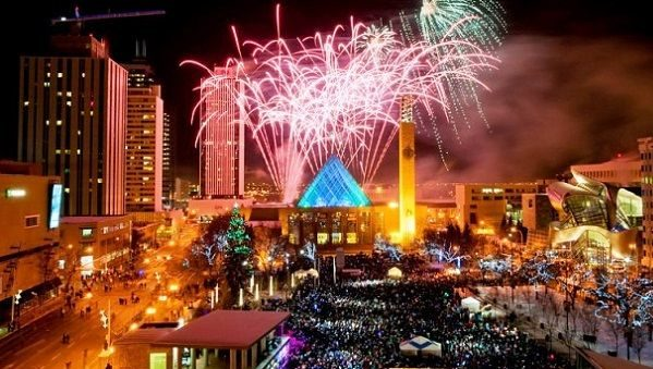 Edmonton New Years Eve 2018 Fireworks