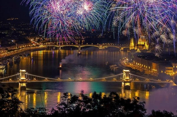 Budapest New Years Eve Fireworks