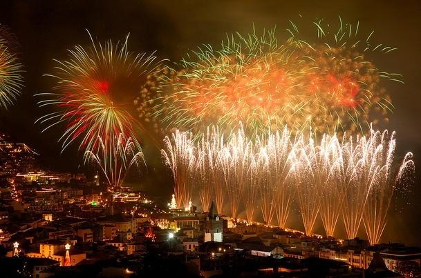 Lisbon New Years Eve Fireworks