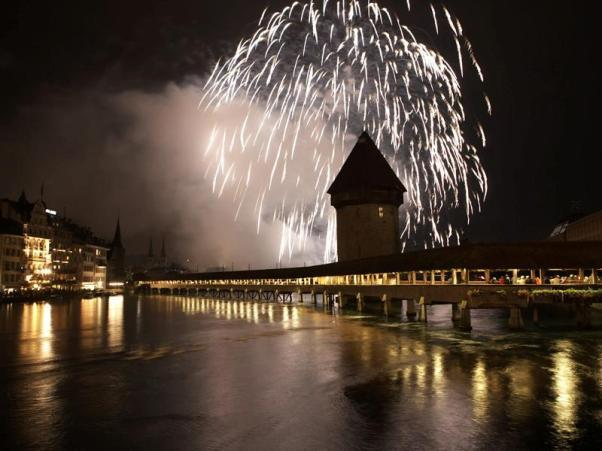 Lucerne New Years Eve Fireworks