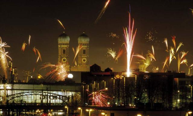 Munich New Years Eve Fireworks