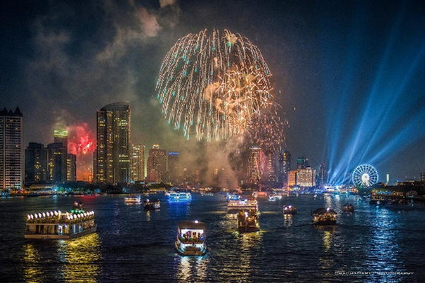Bangkok New Years Eve 2018 Fireworks