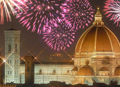 New Years Eve Fireworks in Florence