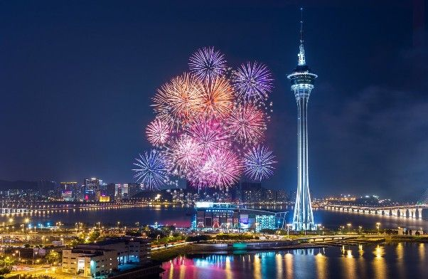 New Years Eve Fireworks in Macau