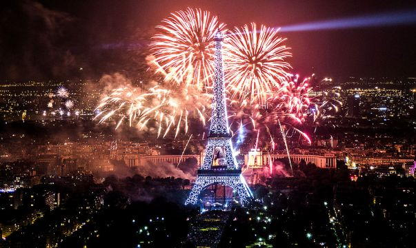 New Years Eve Fireworks in Paris