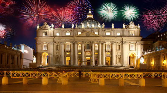 New Years Eve Fireworks in Rome