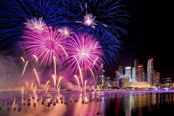 New Years Eve Fireworks in Singapore