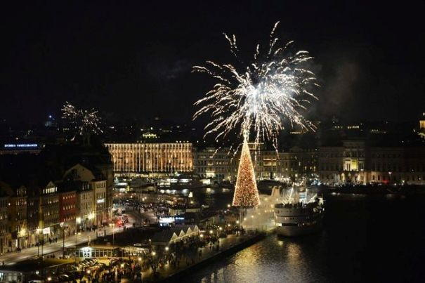New Years Eve Fireworks in Stockholm