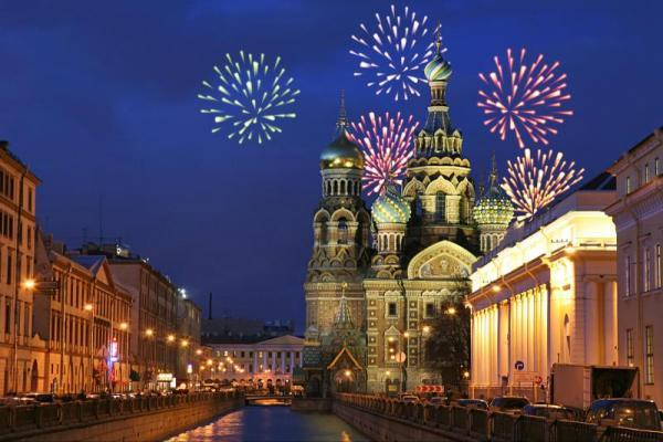 Saint Petersburg New Years Eve Fireworks