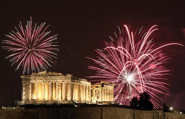 Athens New Years Eve Fireworks