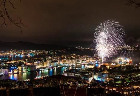 Bergen New Years Eve Fireworks