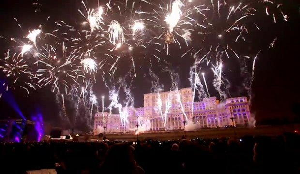 Bucharest New Years Eve 2018 Fireworks