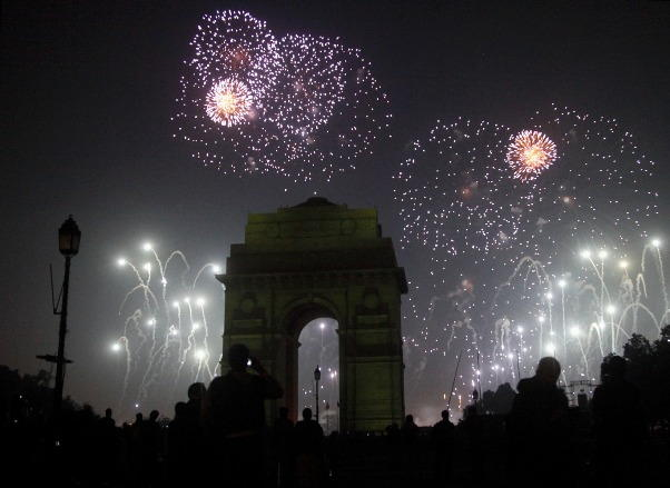 Delhi New Years Eve 2018 Fireworks