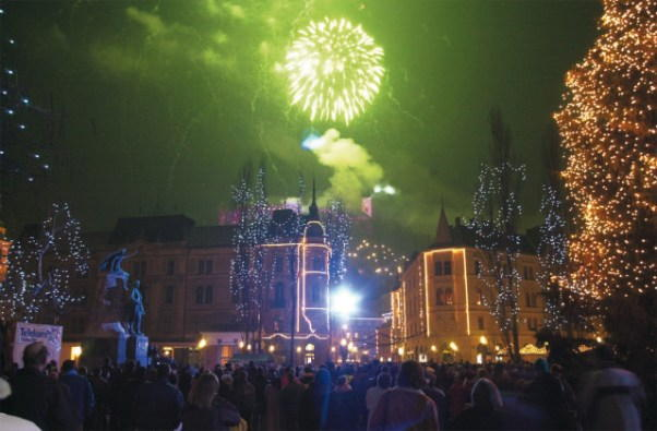 Ljubljana New Years Eve 2018 Fireworks