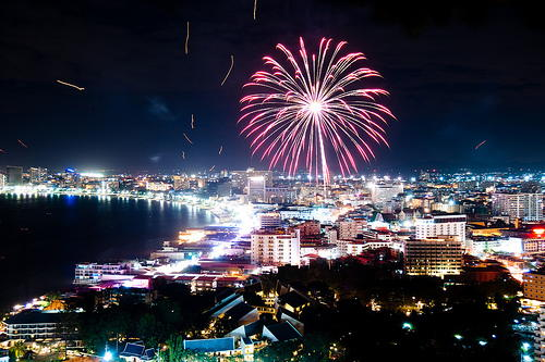 Pattaya New Years Eve 2018 Fireworks