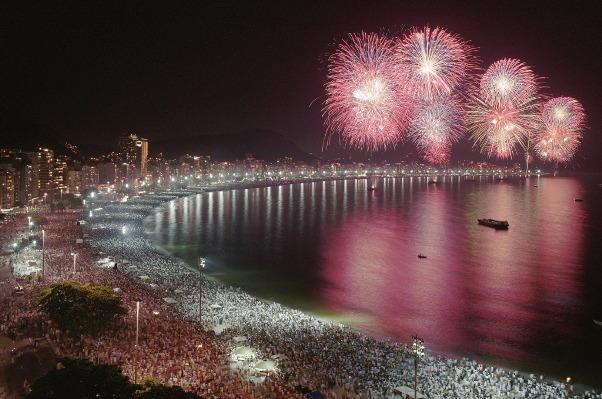 Rio de Janeiro New Years Eve Fireworks