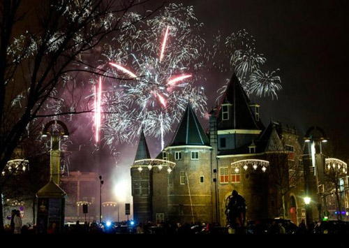 Amsterdam New Years Eve Fireworks
