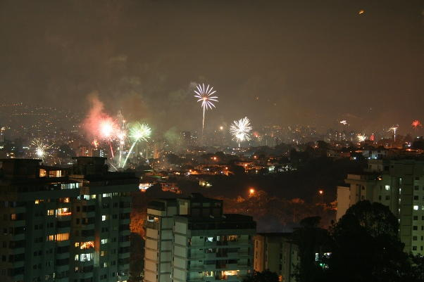 Caracas New Years Eve 2018 Fireworks