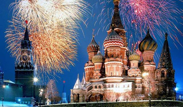 Moscow New Years Eve Fireworks