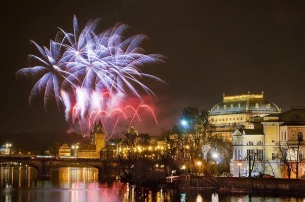 Prague New Years Eve Fireworks