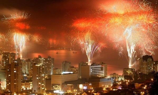 Santiago New Years Eve Fireworks