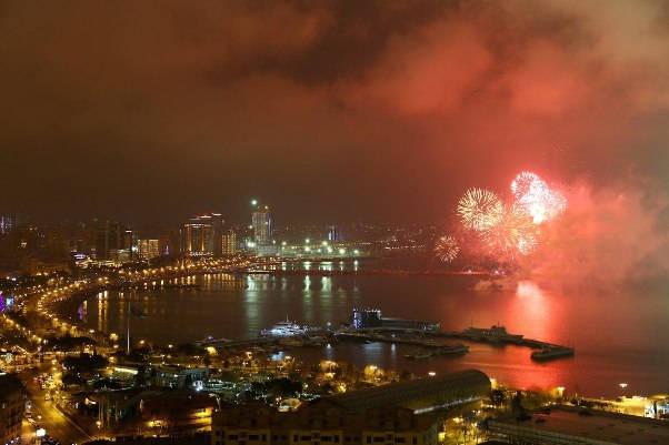 Baku New Years Eve 2018 Fireworks