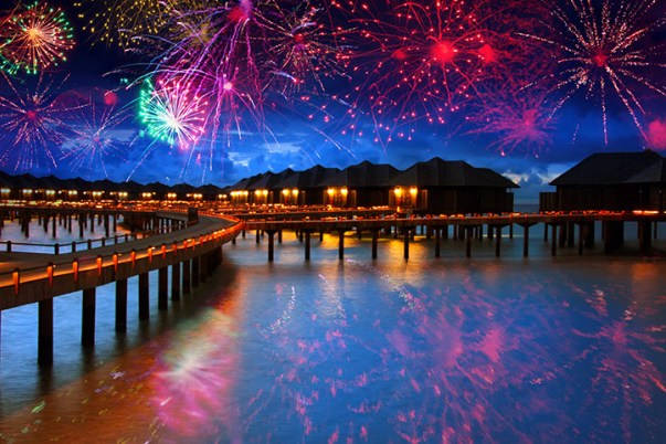 Maldives Islands New Years Eve Fireworks