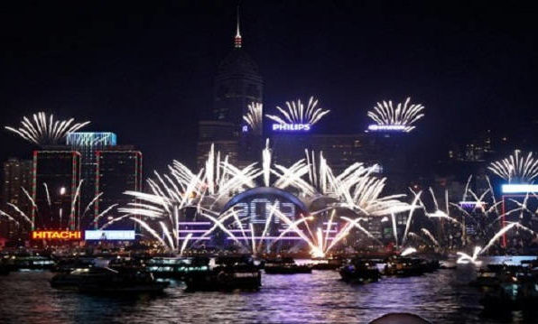 Shenzhen New Years Eve 2018 Fireworks