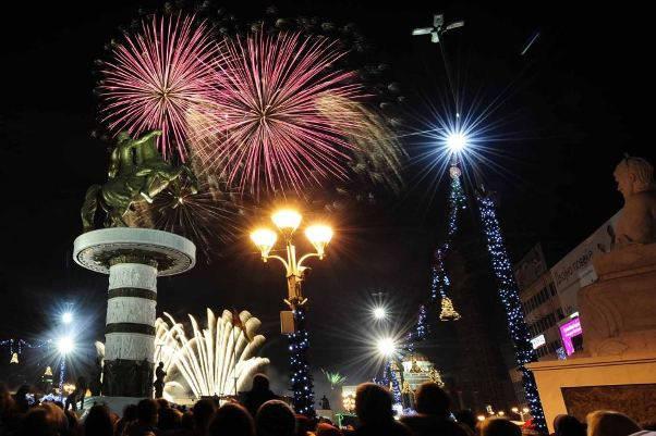 Skopje New Years Eve Fireworks
