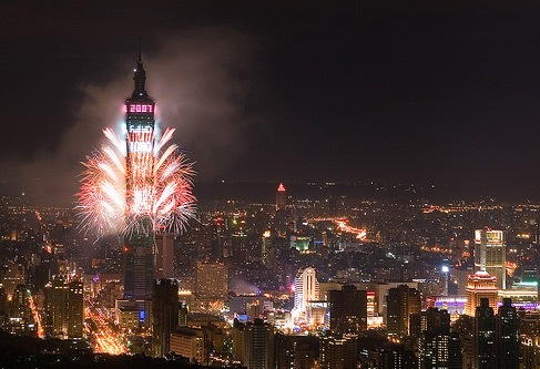 Taipei New Years Eve 2018 Fireworks