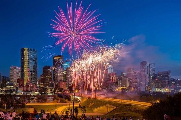 Calgary New Years Eve Fireworks