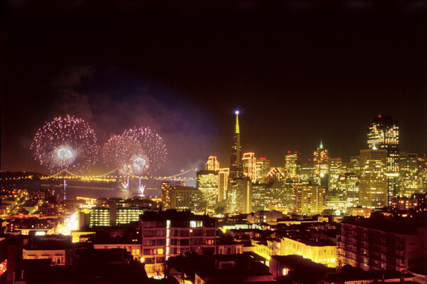 New Years Eve Fireworks San Francisco