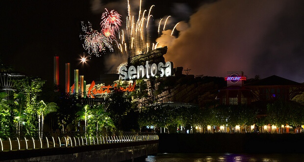 Sentosa Island New Years Eve 2018