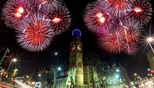 Glasgow New Years Eve Fireworks