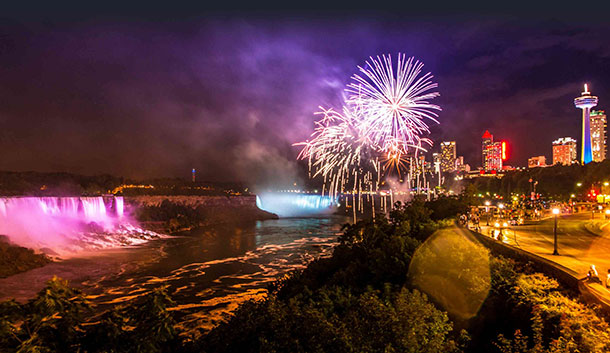 Niagara Falls Canada Fireworks New Years Eve