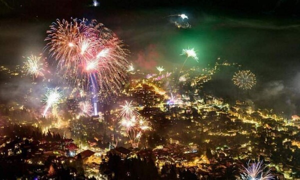 Verbier New Years Fireworks