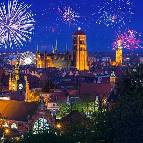 Gdansk New Years Fireworks
