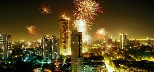 Mumbai New Years Eve Fireworks