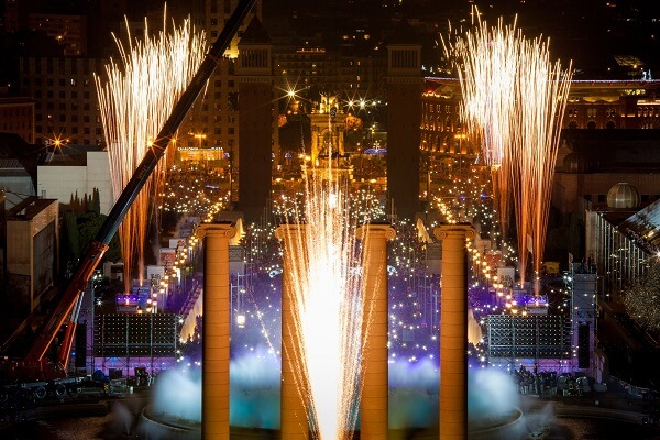 Barcelona New Years Fireworks