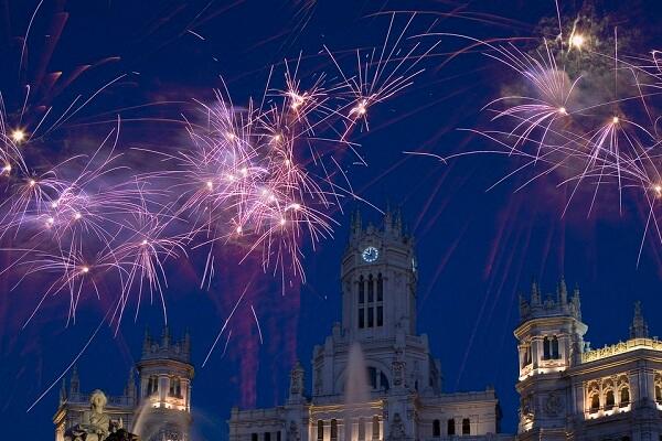 Madrid New Year Fireworks